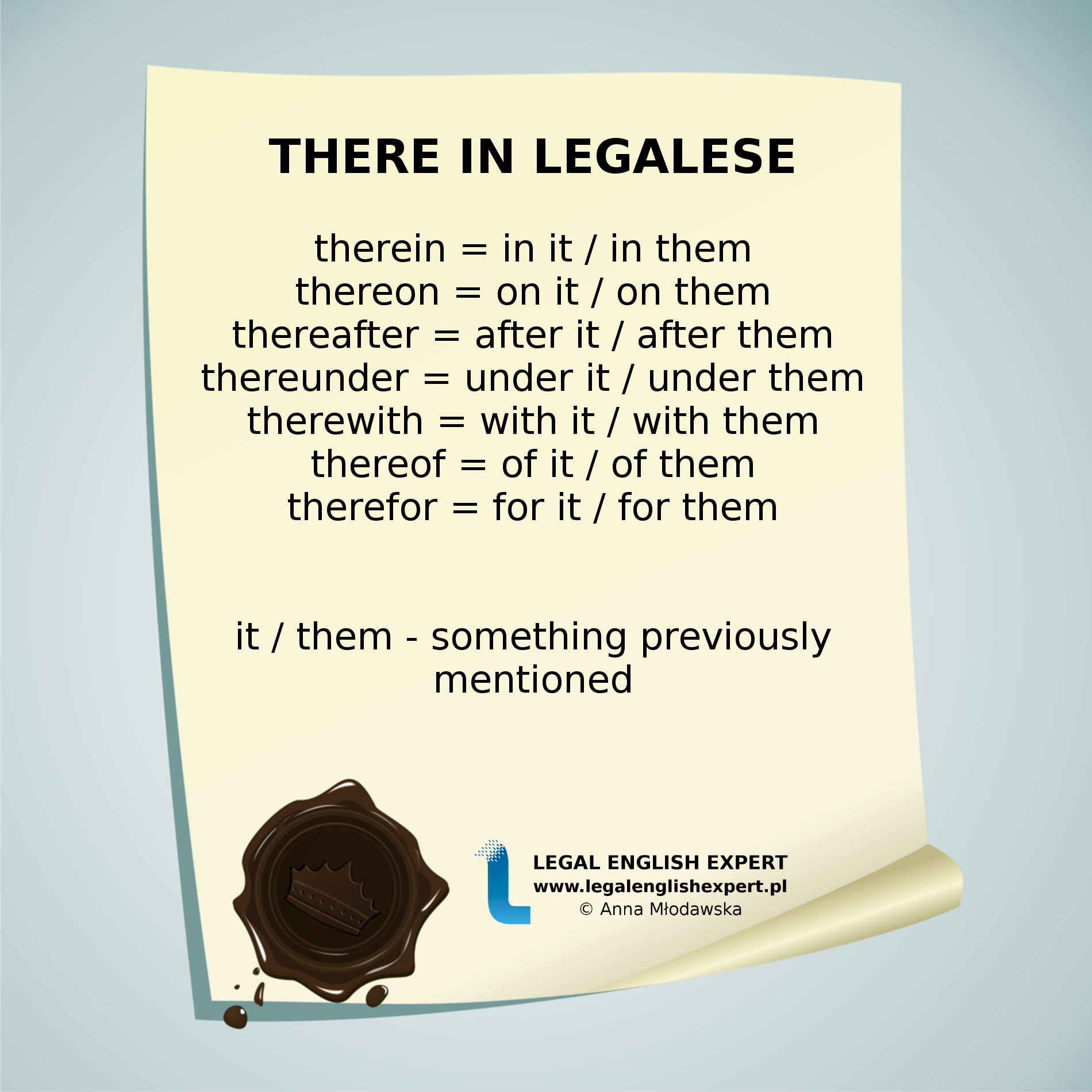 THERE - Legal English Expert