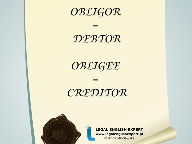 LEGAL ENGLISH EXPERT - infografika_10 - dłużnik wierzyciel