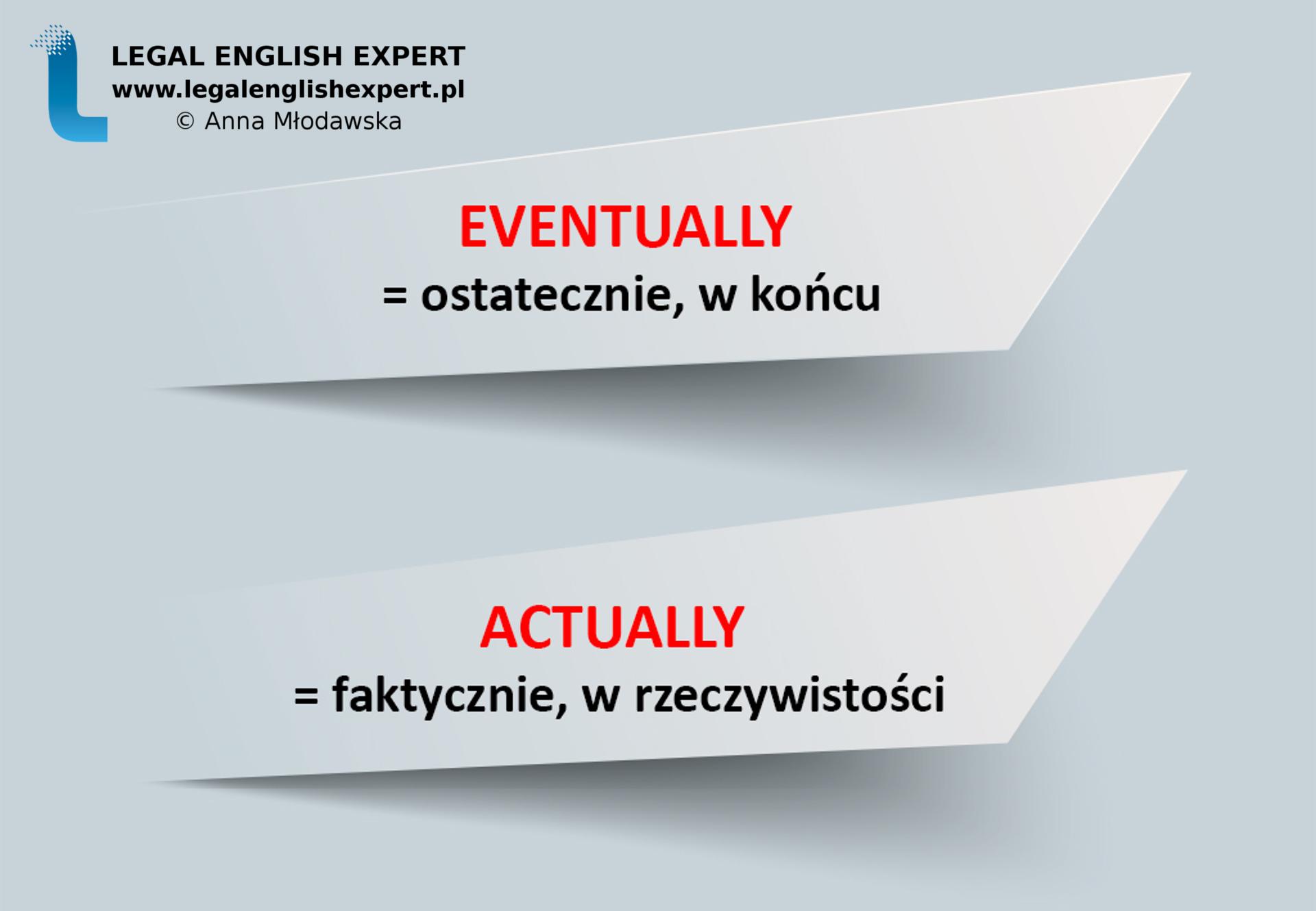 LEGAL ENGLISH EXPERT - infografika_11 - false friends - ewnetualnie 1