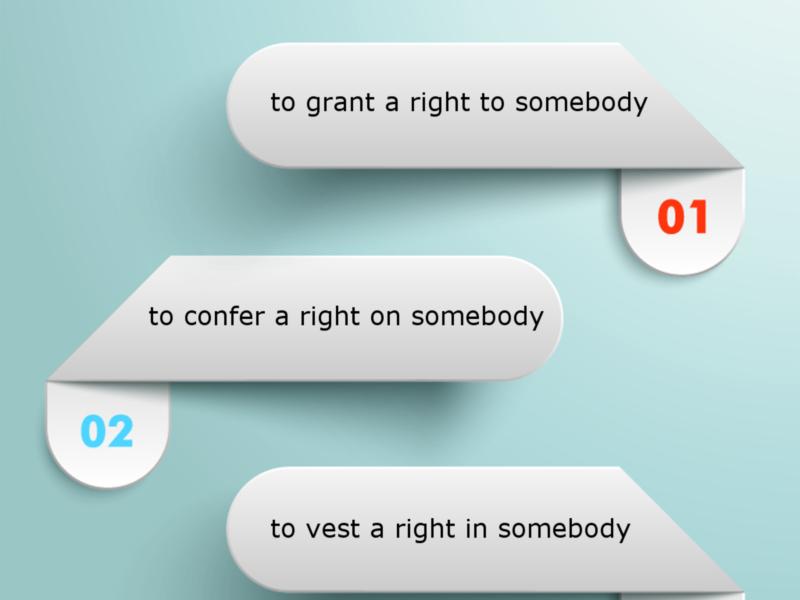 LEGAL ENGLISH EXPERT - infografika_15 - nadać, przyznać