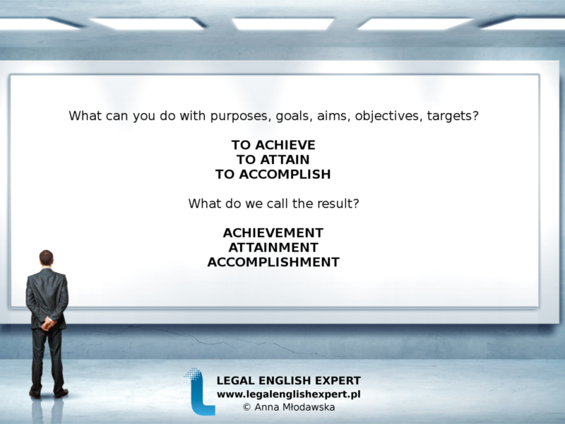 LEGAL ENGLISH EXPERT - infografika_20 - osiągnąć cel