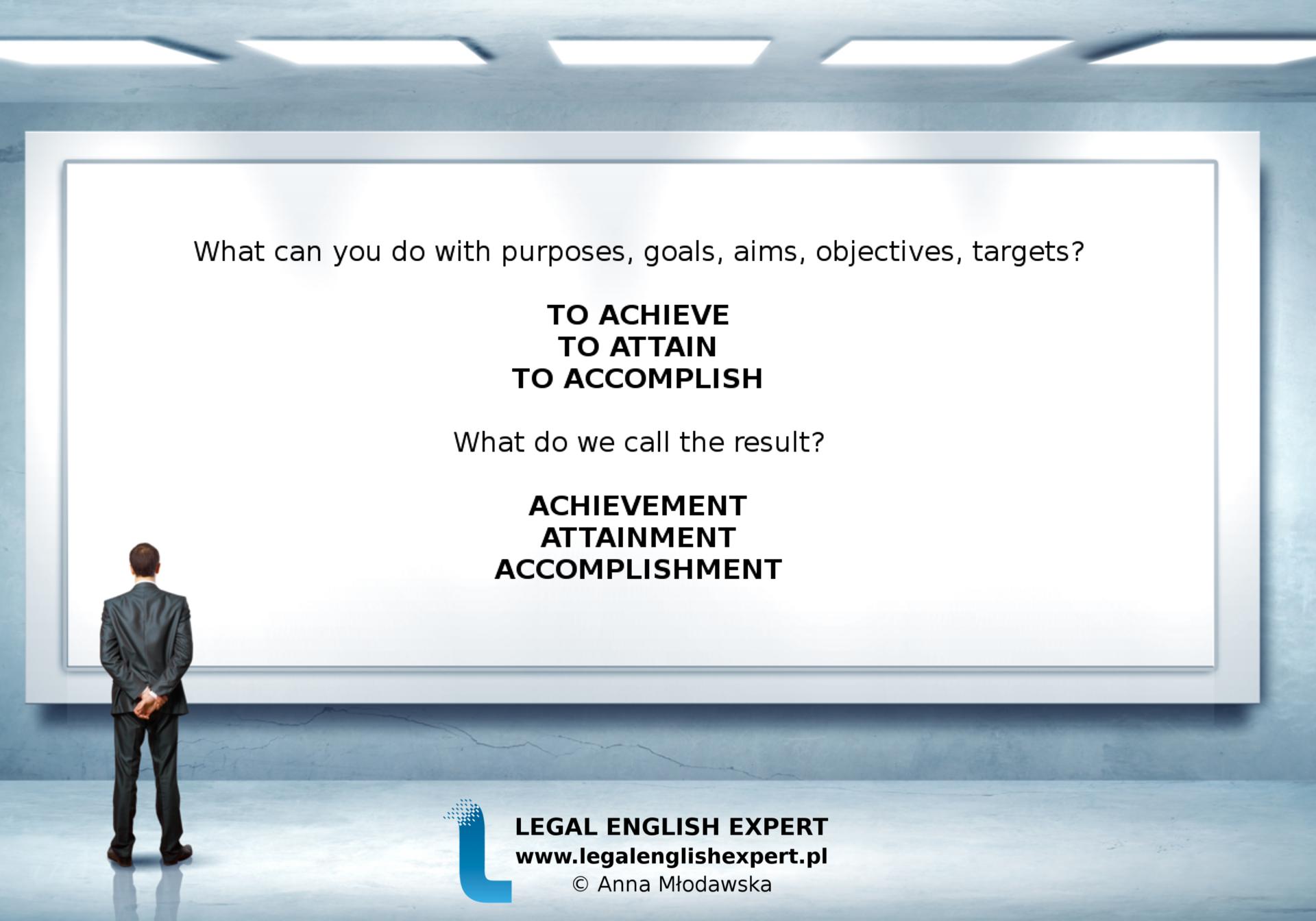 LEGAL ENGLISH EXPERT - infografika_20 - osiągnąć cel