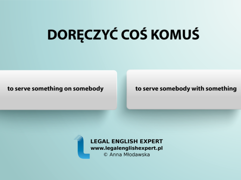 LEGAL ENGLISH EXPERT - infografika_22 - doręczyć