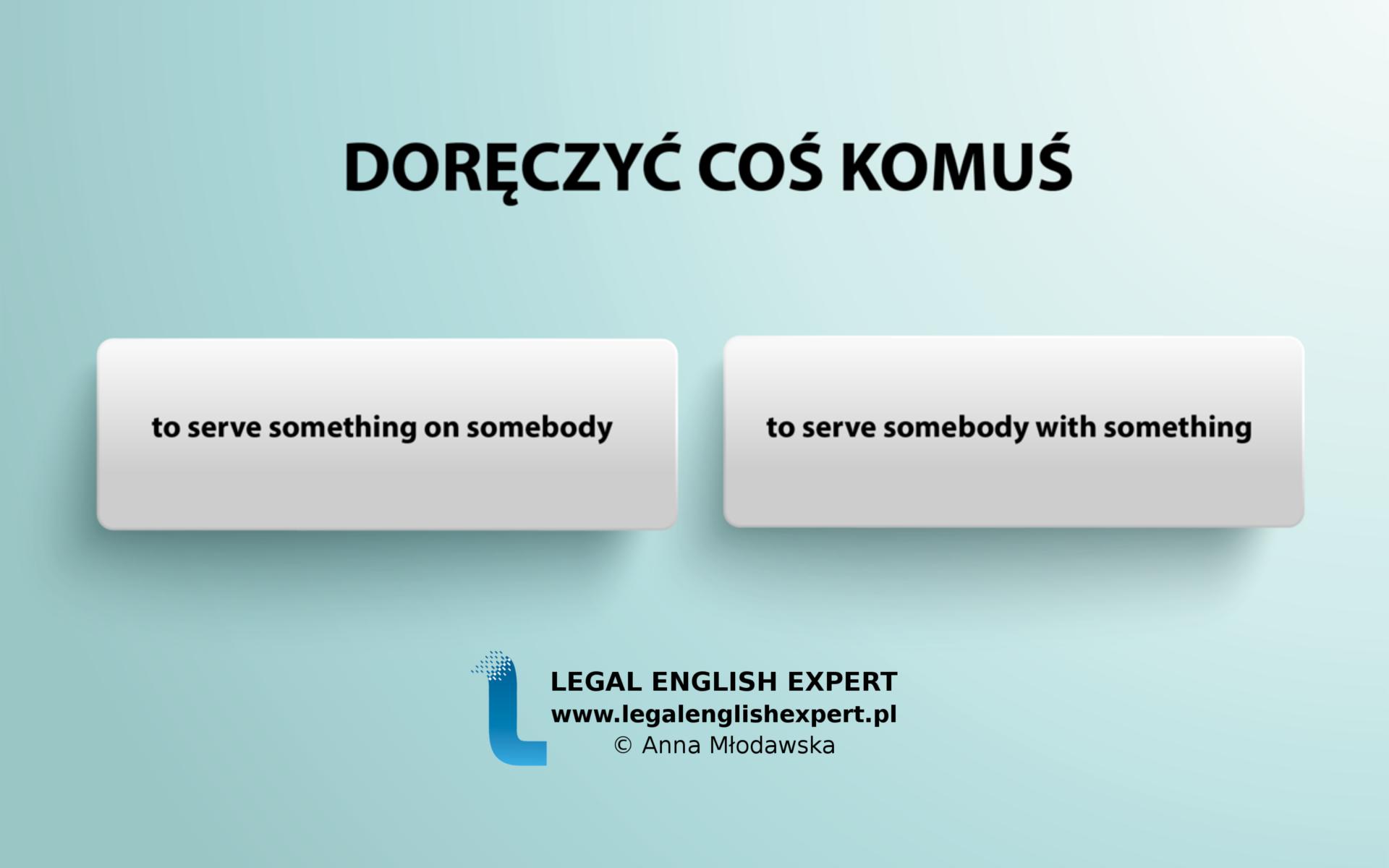 LEGAL ENGLISH EXPERT - infografika_22 - doręczyć