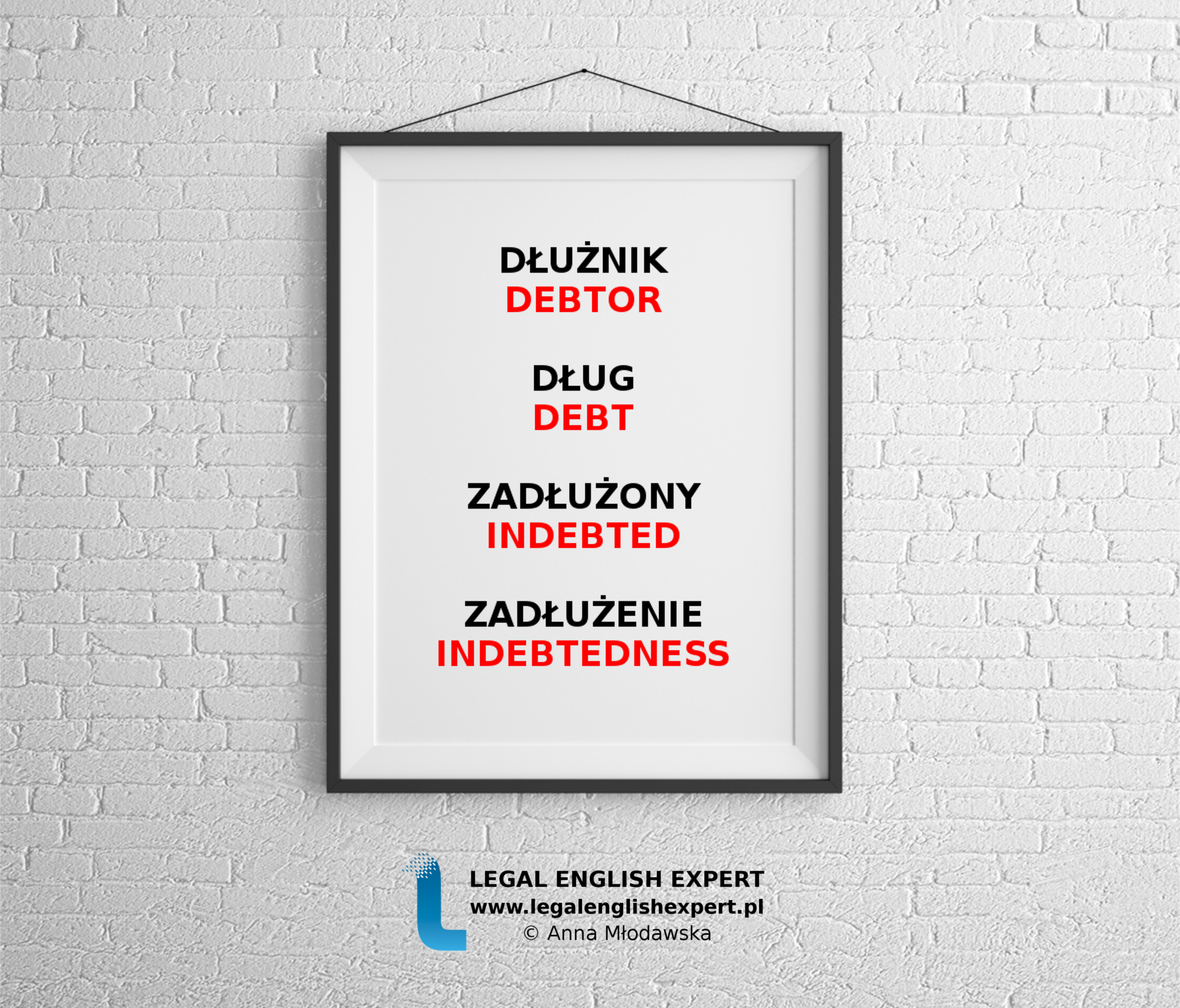 LEGAL ENGLISH EXPERT - infografika_23 - zadłużony zadłużenie