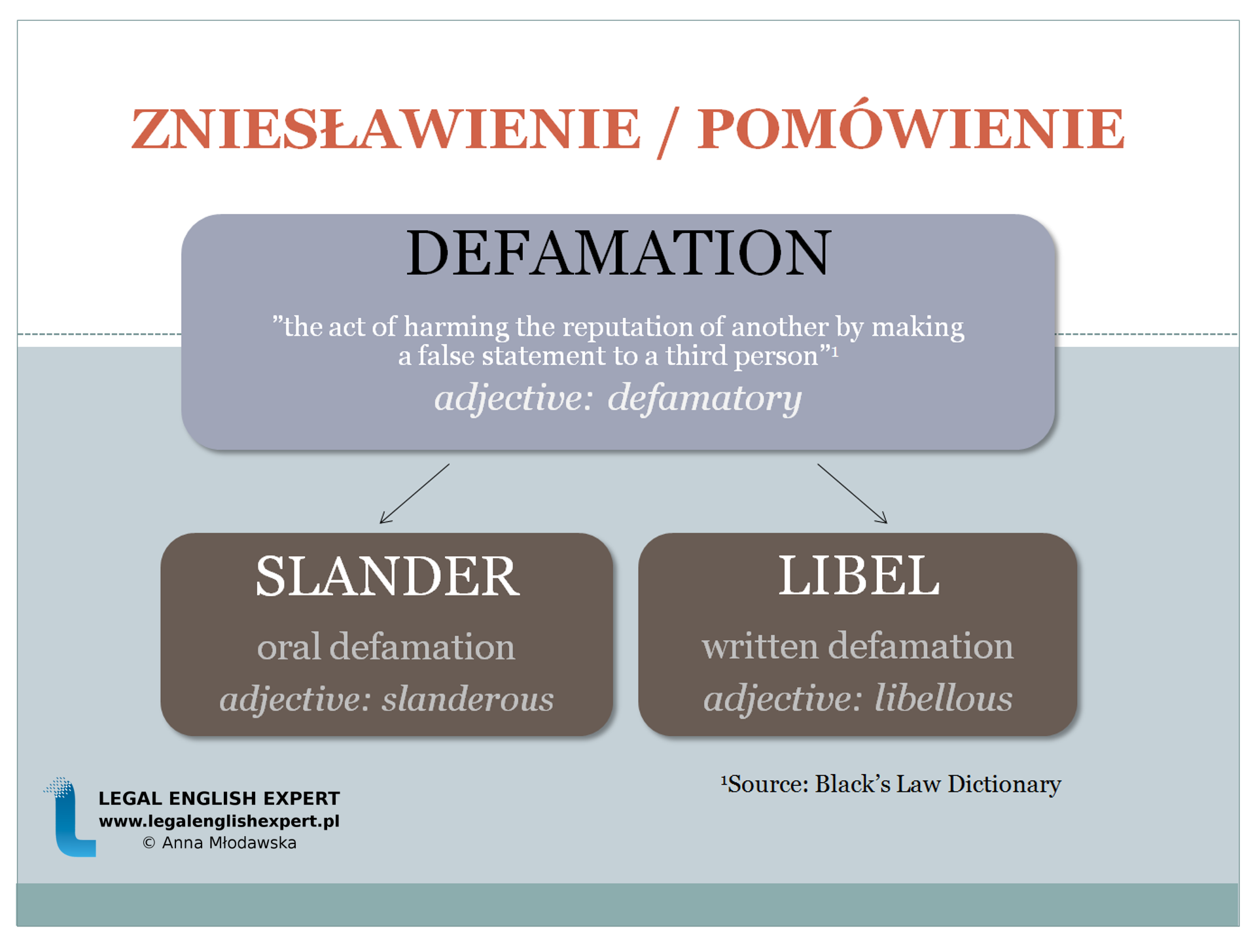 LEGAL ENGLISH EXPERT - infografika_31 - zniesławienie
