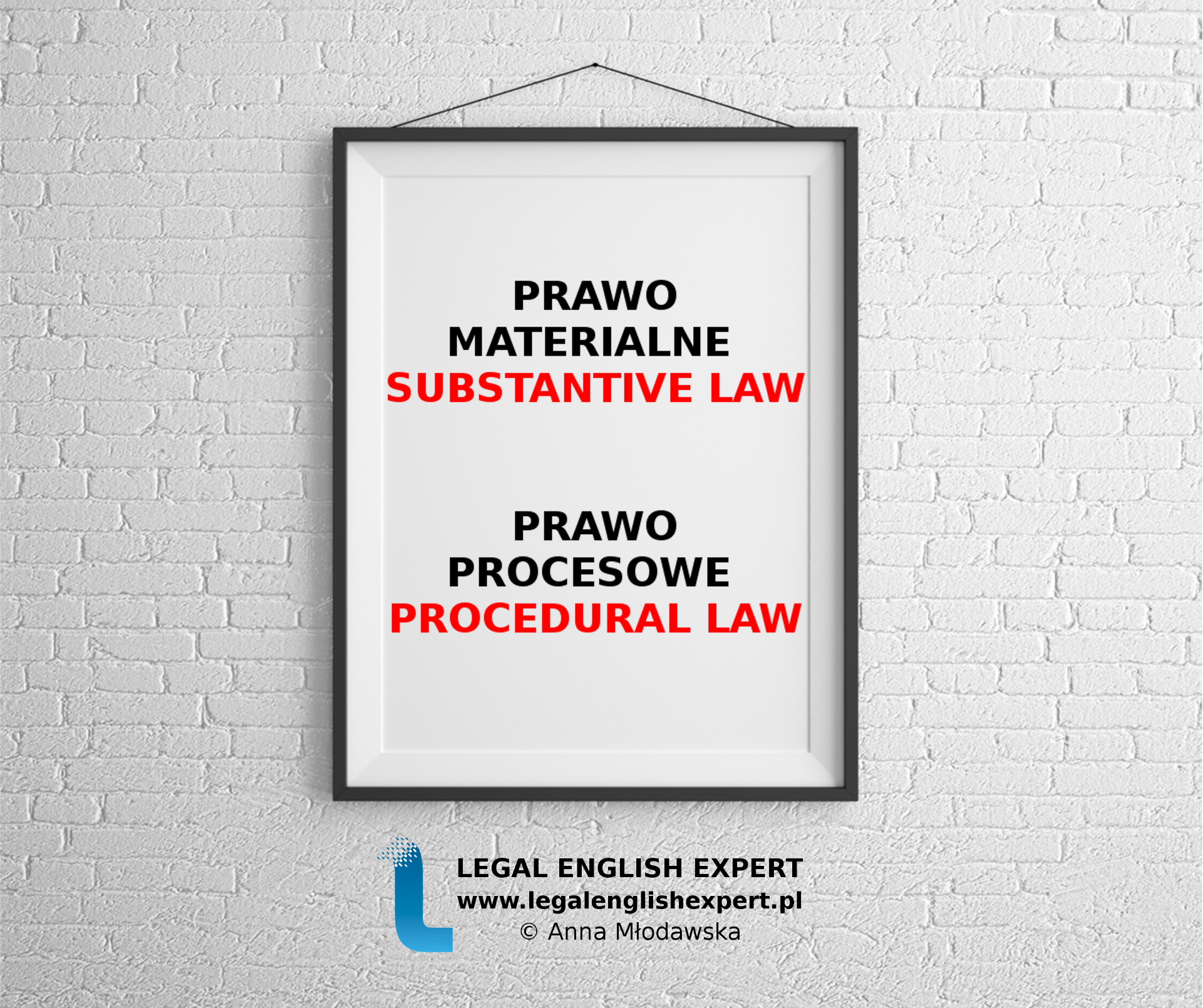 LEGAL ENGLISH EXPERT - infografika_33 - prawo materialne i procesowe