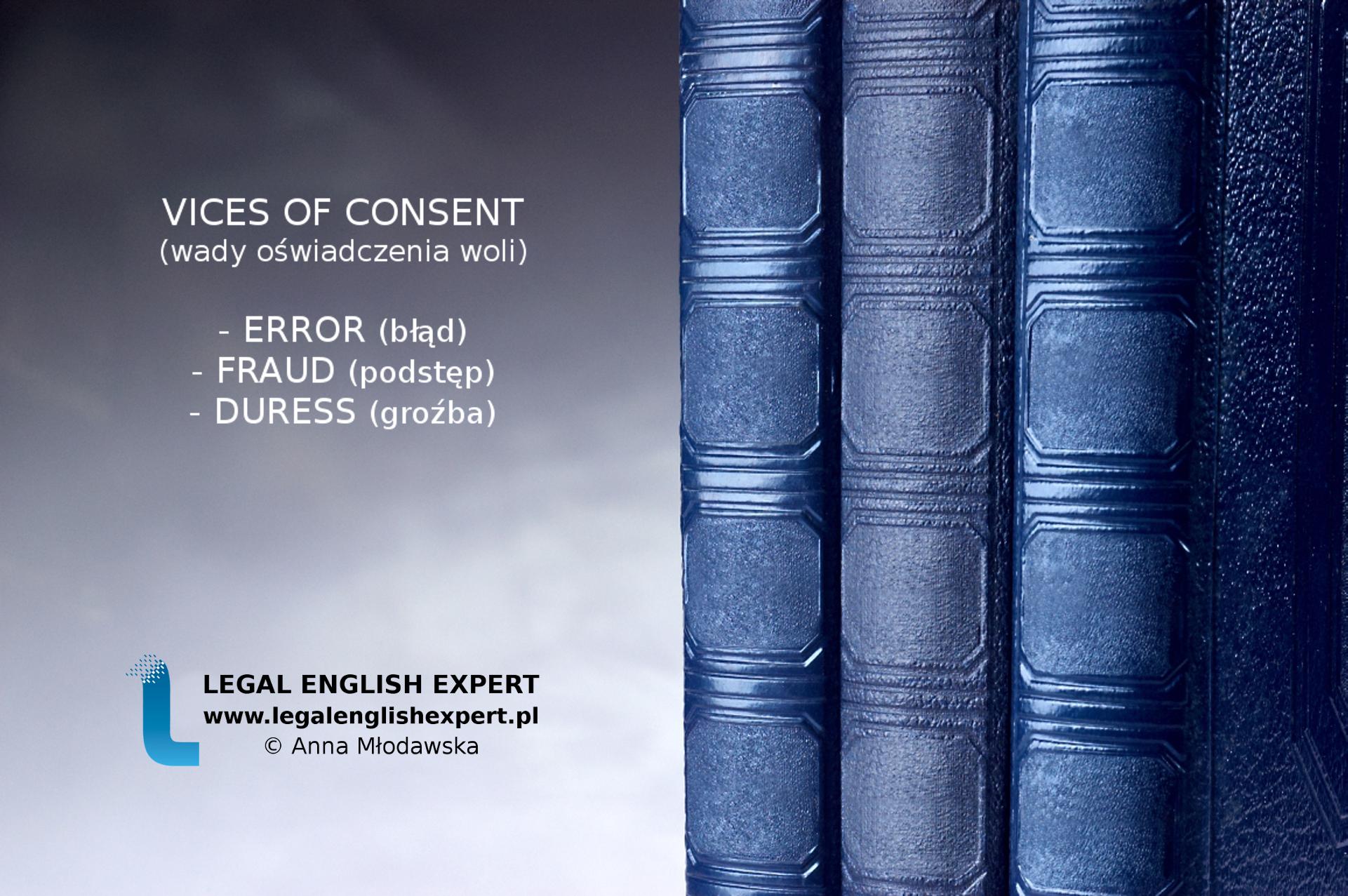 LEGAL ENGLISH EXPERT - infografika_43 - wady oświadczenia woli
