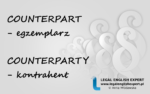 Czym się różni COUNTERPART od COUNTERPARTY? – grafika i przykładowe zdania