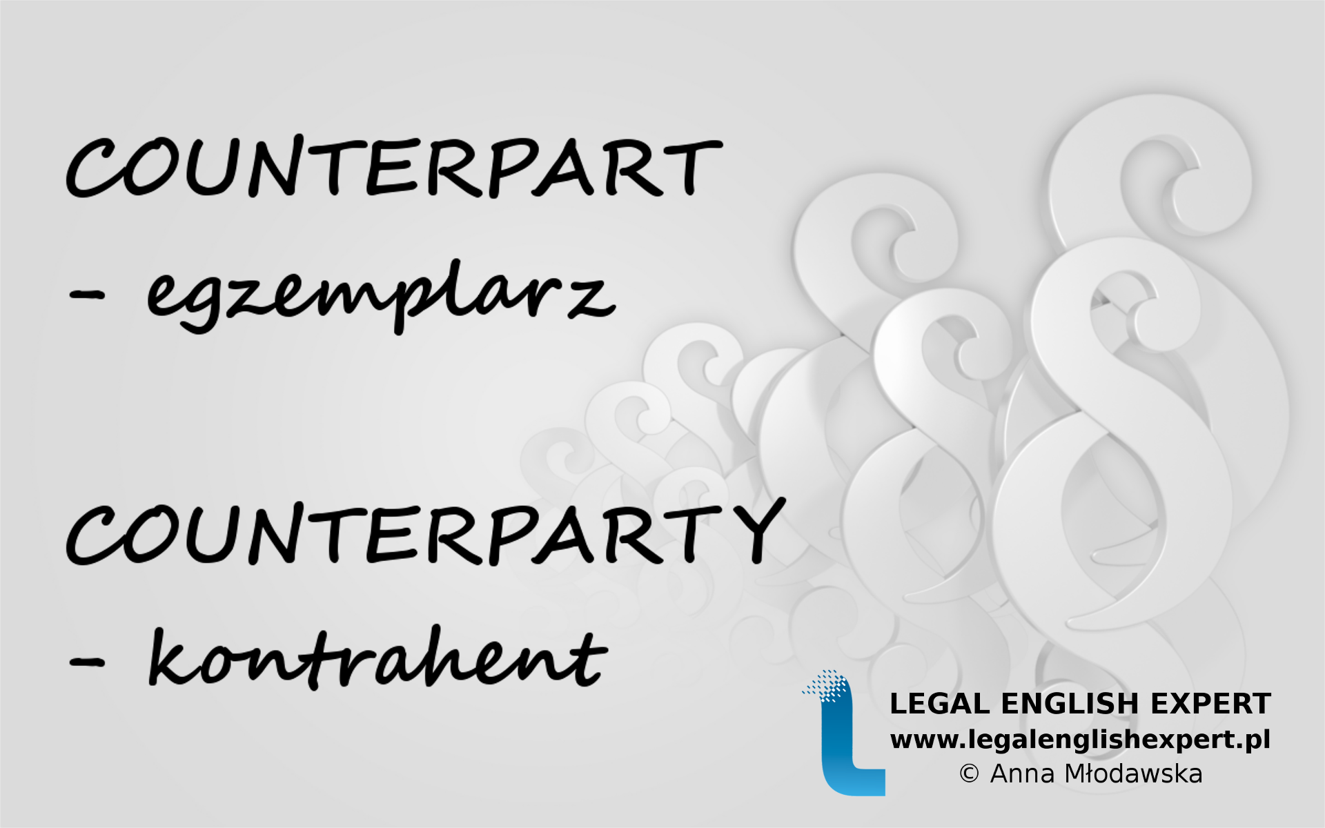LEGAL ENGLISH EXPERT - infografika_45 - counterpart
