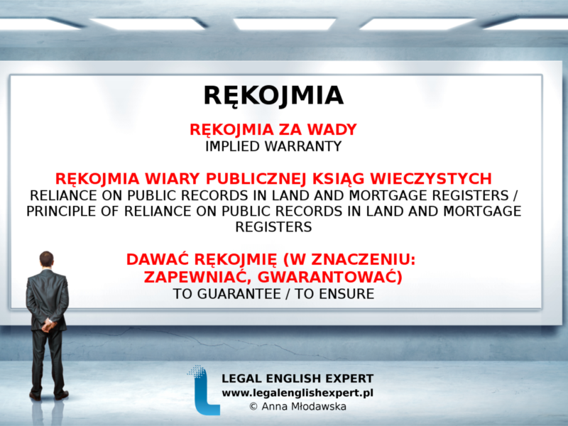 LEGAL ENGLISH EXPERT - infografika_57 - rękojmia