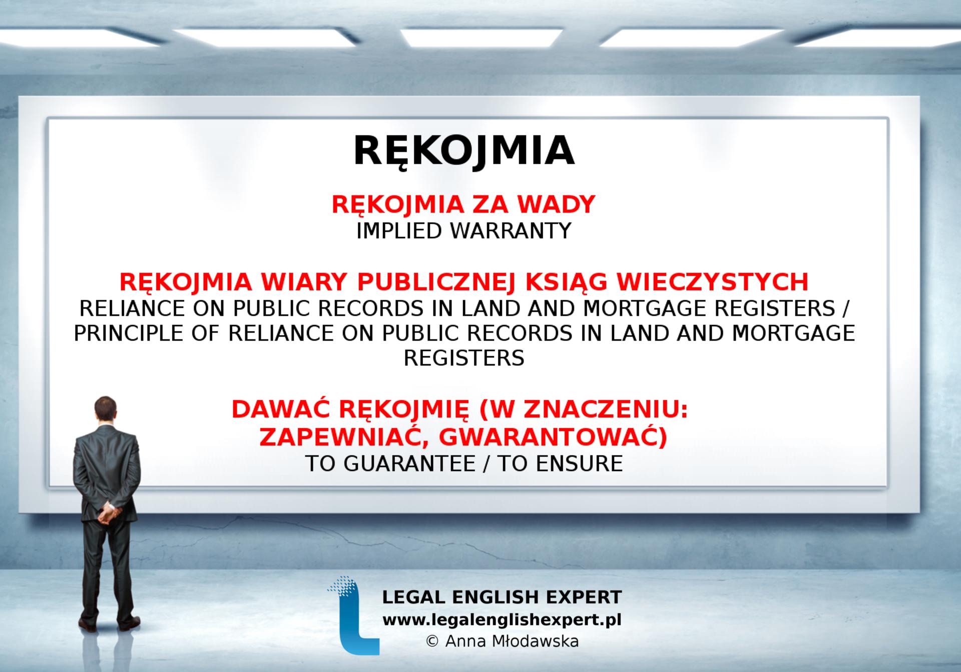 LEGAL ENGLISH EXPERT - infografika_57 - rękojmia