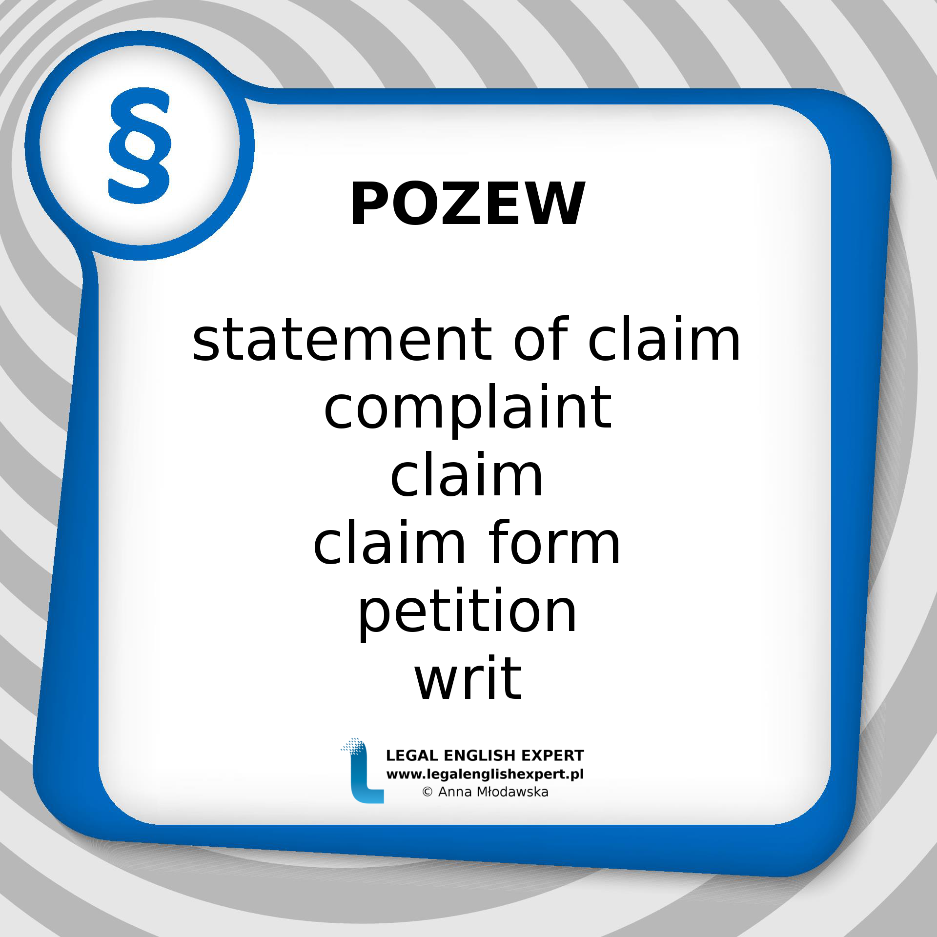 LEGAL ENGLISH EXPERT - infografika_68 - pozew