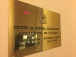 Court of Appeal in Toronto – video and terminology